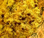 Basmati Rice with Cashews and Raisins