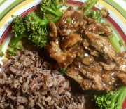 Pork Tenderloin In Black Bean Sauce With Broccoli