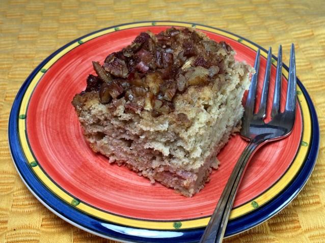 Apple Rhubarb Coffee Cake