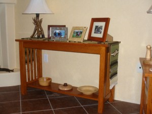 Craftsman Style Sofa Table Completed!