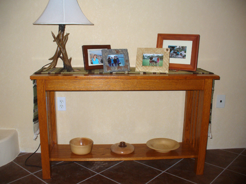 Craftsman Style Sofa Table Completed