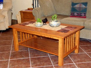 Craftsman Style Coffee Table – Done!