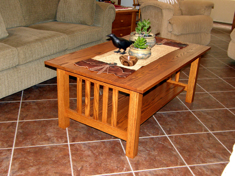 Craftsman Style Coffee Table - Done!