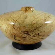 A Spalted Maple Hollow Form