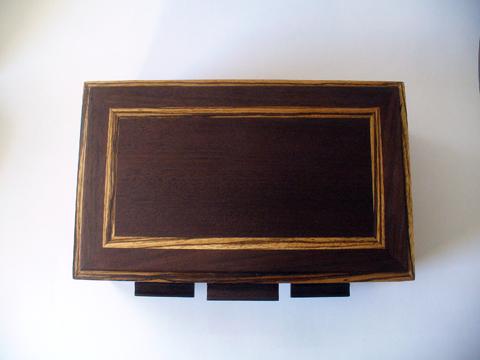 Zebrawood And Nogal Jewelry Box