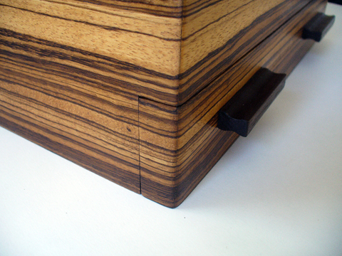 Zebrawood And Nogal Jewelry Box Ravenview
