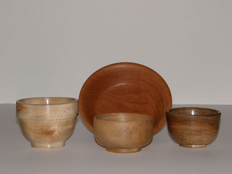 Turned Wooded Bowls