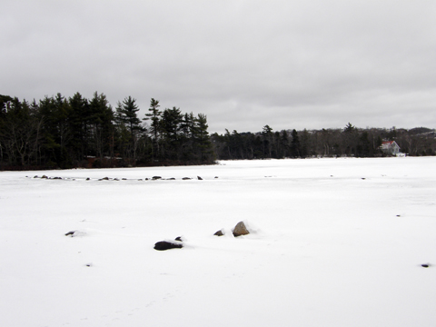 winter lake and ice