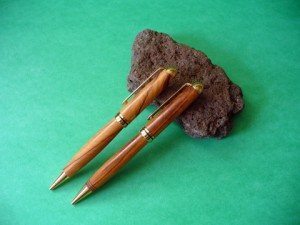 Olivewood And Tigerwood Pens