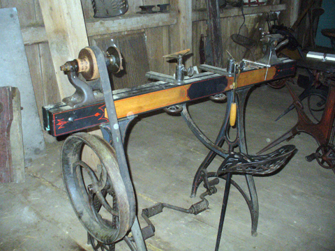 pedal powered lathe