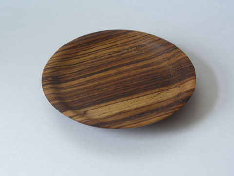 Zebrawood Candle Plate And Thingys