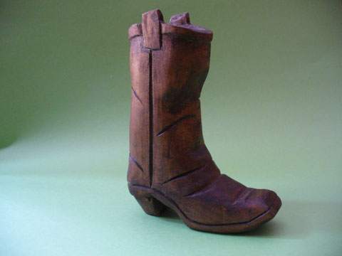 Carved Cowboy Boot