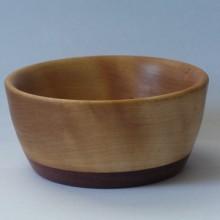 Birch Bowl With Purpleheart Base