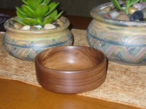 Walnut Bowl From The Whipping Wind