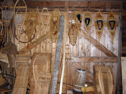Making Snowshoes At Ross Farm