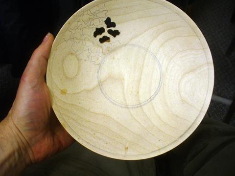 Piercing wood