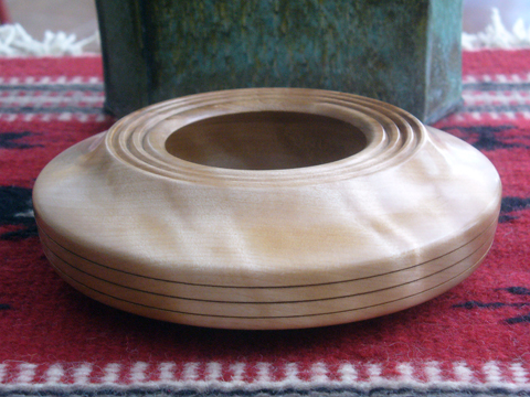 Birch Bowl With A Three Ring Top