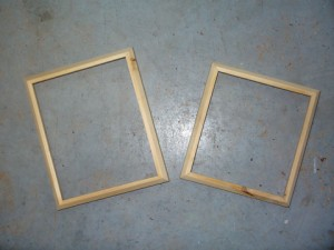 A Pretty Pair Of Pine Picture Frames