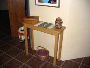 A Red Oak Hall Table