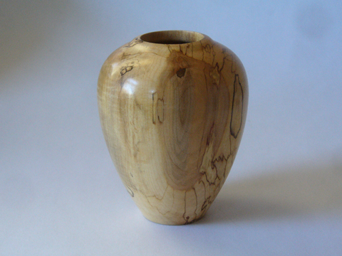 A Surprise Spalted Maple Vase