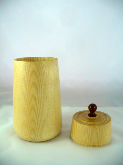 Ash Canister With Cocobolo Lid Pull