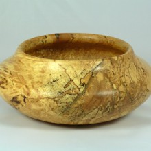 Southwest Spalted Bowl With Brass Inlay