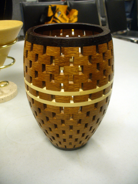 open segmented woodturning