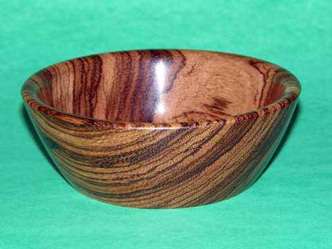 West African Zebrawood Bowl