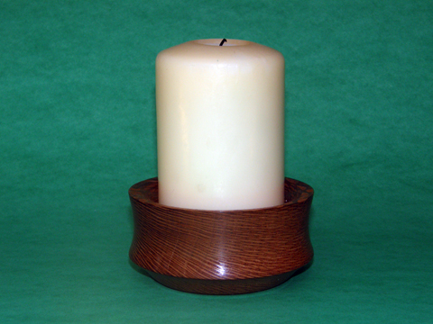 A Lacewood Candle Holder