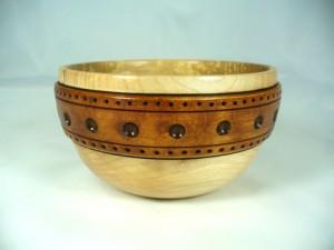 Maple Bowl With Large Burned Band