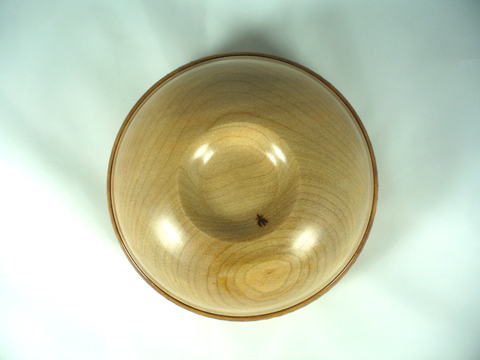 Maple Bowl With Large Burned Band