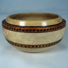 Textured Maple Bowl With Burnings