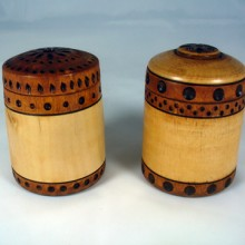 A Couple Of Small Turned Birch Boxes
