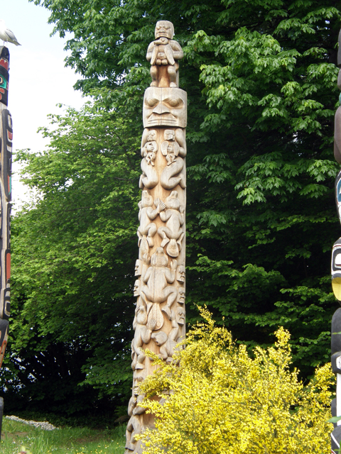 The Beaver Crest Pole Of Totem Park
