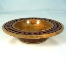 A Wide Rimmed Maple Peyoke Bowl