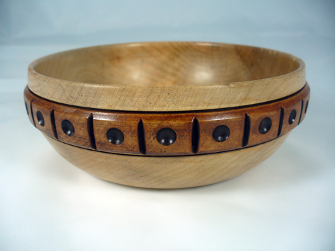 A Maple Bowl With A Blocked Band