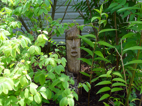 Grinning Garden Gods In The Green