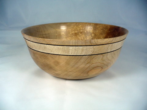 Maple Bowl With Textured Band
