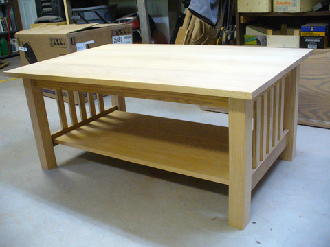 Craftsman Style Coffee Table   Part 5