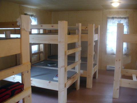 Camp cots and bunks