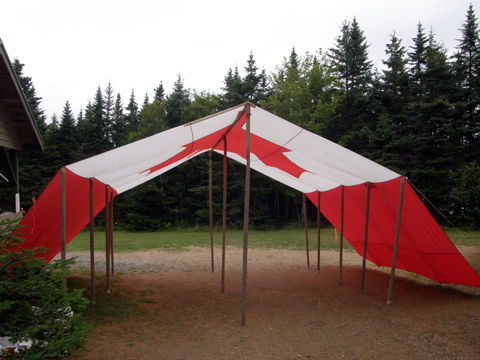 Canadian flag tent