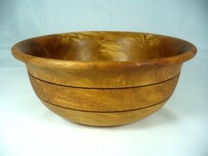 Birch Salad Bowl With Texturing