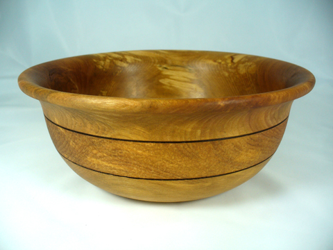 Birch Salad Bowl With Texturing