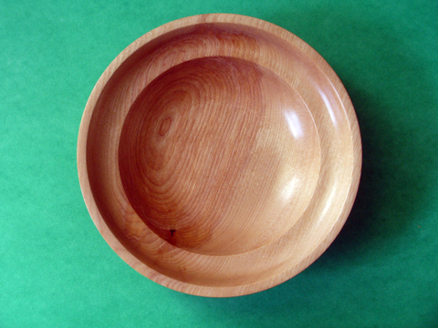 A Birch Bowl With Double Rim