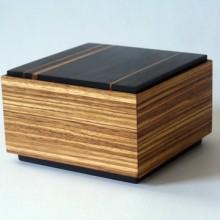 African Zebrawood And Ebony Box