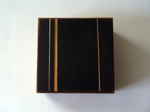 African Zebrawood And Ebony Box