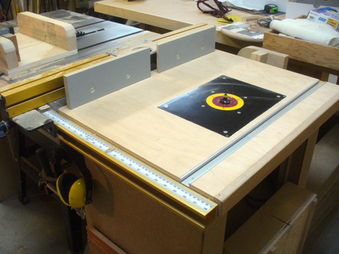 A table saw extension router table ravenview for Home built router