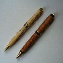 turned pens of Birch And Amboyna
