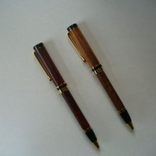 Turned Pens Of Cocobolo / Tigerwood