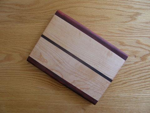 Purpleheart, Maple And Walnut Cutting Board